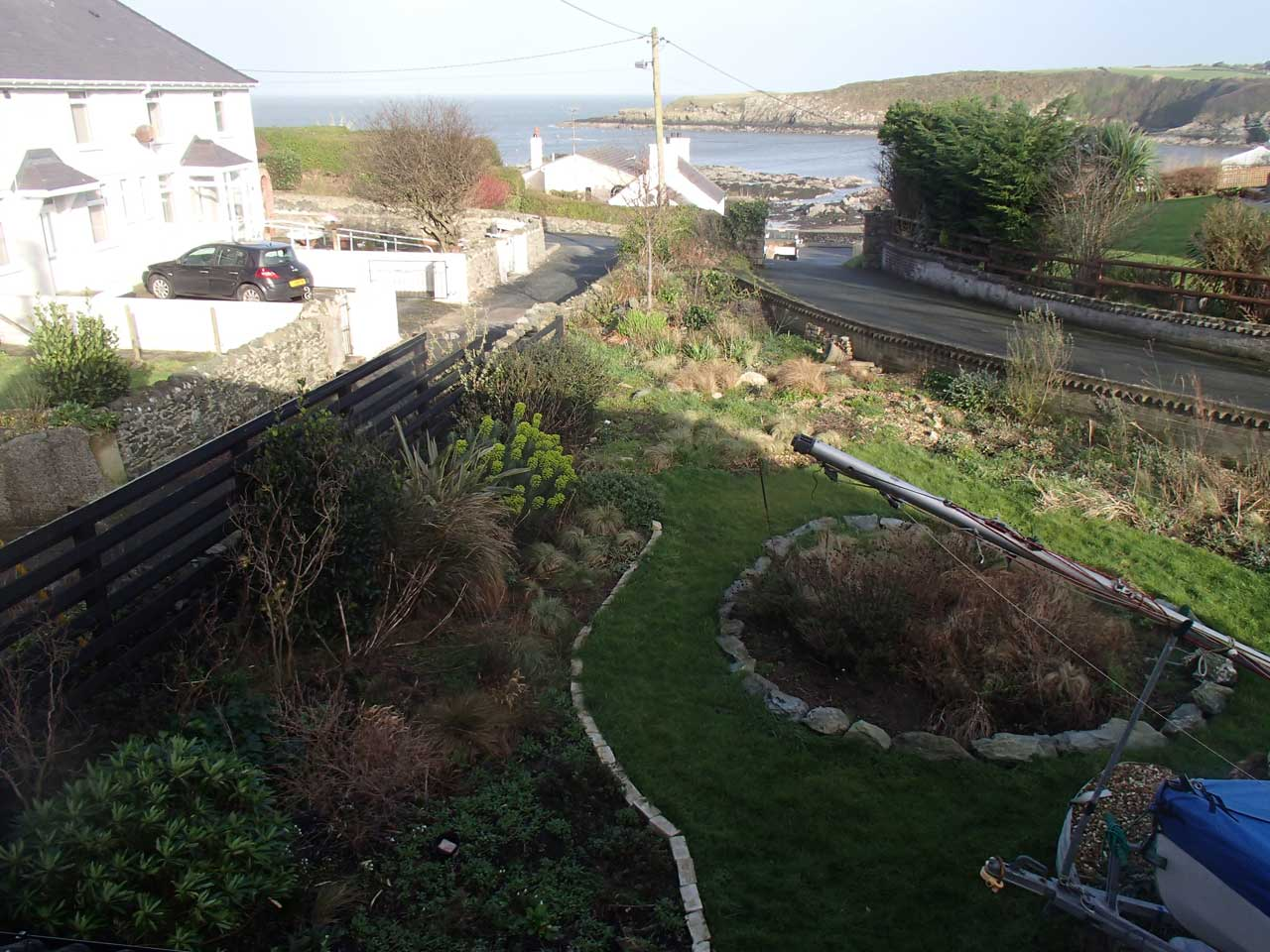 Left hand side of front garden from above